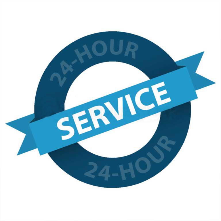 24 Hour Service logo