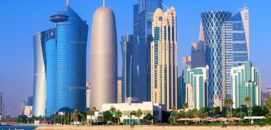 qatar, skyline, skyscrapers